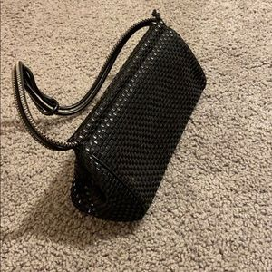 The Sak black leather mini handbag